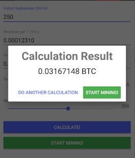 Hashflare Reinvest Calculator - náhled