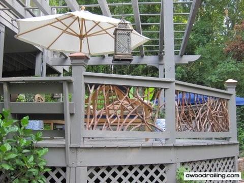 Photo: Outdoor Railing under Pergola