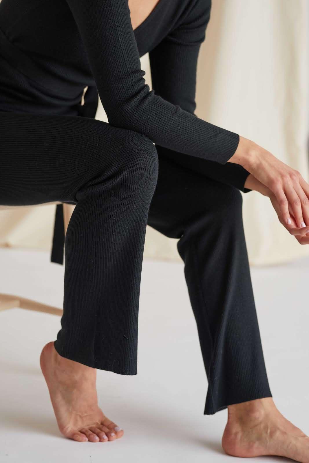 Fine Knit Rib Pants
