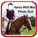 Horse With Man Photo Suit HD icon