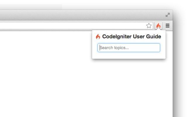 CodeIgniter User Guide for Google Chrome™