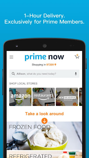 Amazon Prime Now screenshot 1