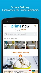 Amazon Prime Now - náhled