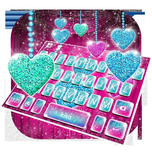 Colorful Diamond Heart Keyboard Theme Icon