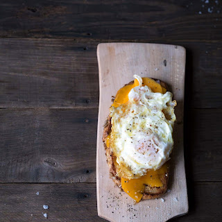 Open-Faced Grilled Cheese + a Fried Egg