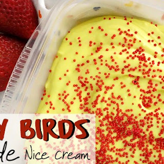 Angry Birds No-Churn Lemonade Ice Cream {Dairy-Free}