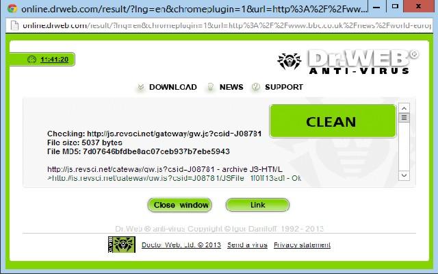 Dr Web Link Checker