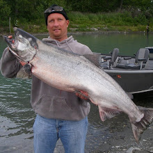 Photo: Kenai River King Salmon Fishing. With Alaska Drift Away Fishing.