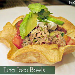Tuna Taco Bowls with Cilantro Lime Rice