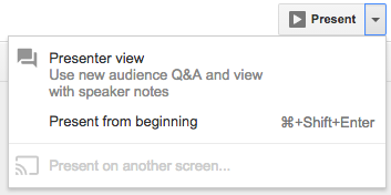 Google Slides: Audience Tool