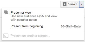 Google Slides: Audience Tool