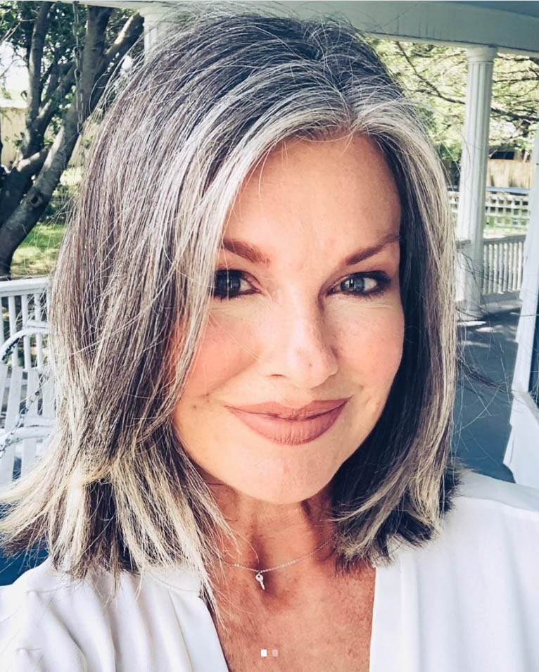 25 Women Going Gray Gracefully Who Will Inspire You to Quit Dying Your Hair 11
