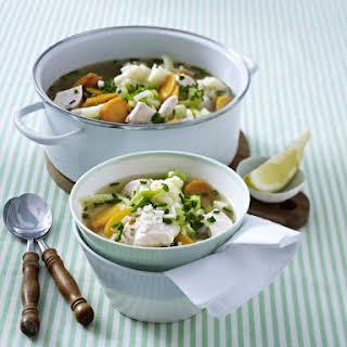 Chicken, Cauliflower and Fennel soup.