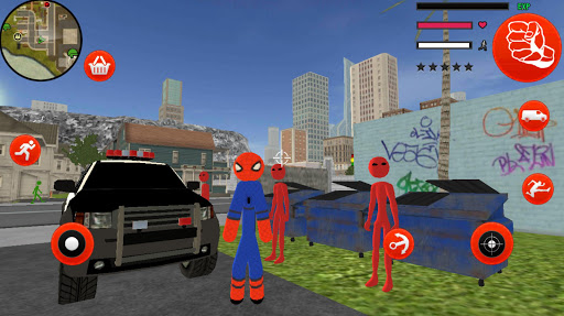 Download Stickman Spider Rope Hero Gangstar Crime MOD APK 2