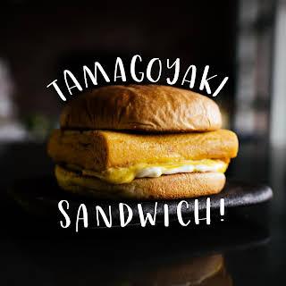 Japanese Egg Omelet Sandwich.