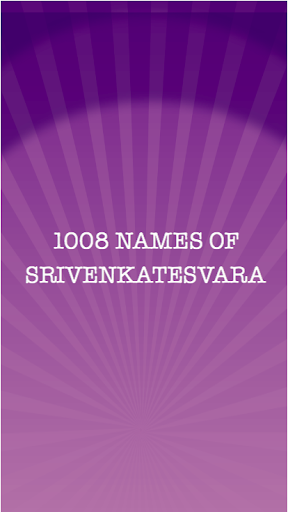 1008 names of Srivenkatesvara