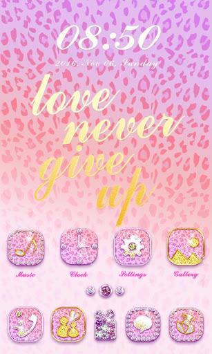 Pink Leopard GO Launcher Theme Screenshot