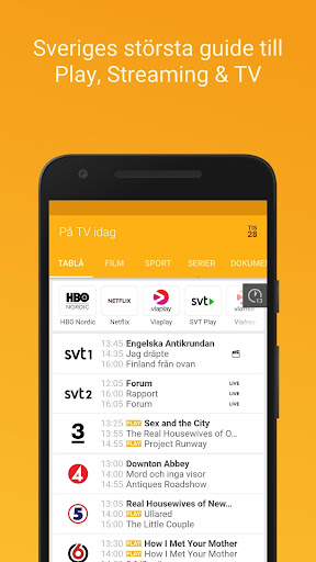 tv.nu - Guide till TV och Streaming screenshots 1