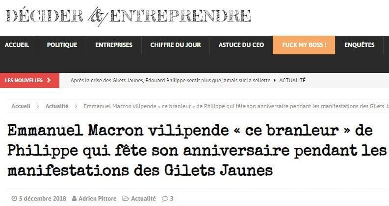 Macron - Edouard Philippe - Gilets jaunes