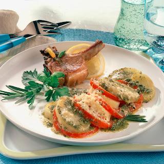 Kartoffel-Pesto-Gratin mit Lamm