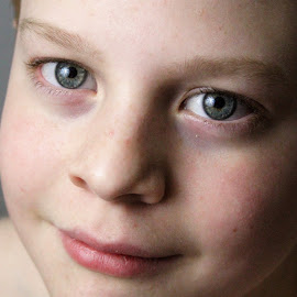 In his eyes by Marsha Grimm - Babies & Children Child Portraits ( love, boys, eyes, teenager, smile )