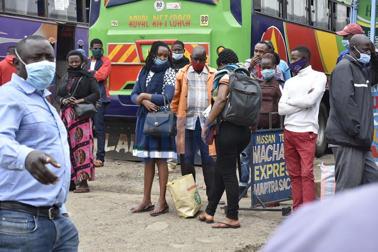Passengers stranded at Machakos country bus due to hiked bus fares