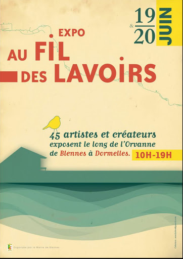 expo «l'Orvanne Au fil des lavoirs» 2021 stage aquarelle en plein air Jeanne PAPA