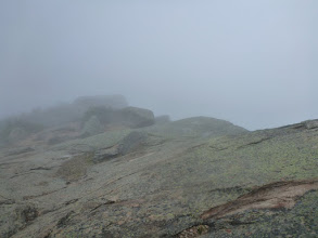 Photo: Franconia Ridge in the clouds