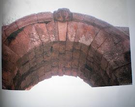 Photo: Fig. 30. Particolare della protome di Giove, copia, Porta di Giove, Faleri.