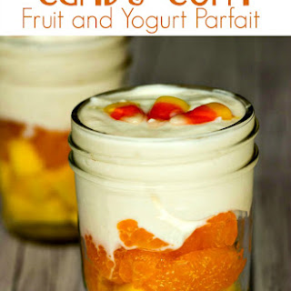 Candy Corn Fruit and Yogurt Parfait