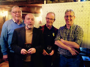 Photo: Senior Runners up at the 2014 Quiz night are Shay Reynolds, Sean Mc Gowan, Declan Bohan and John Woods