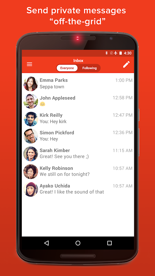 FireChat- screenshot