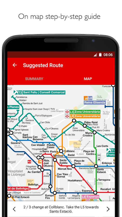 Barcelona Metro - TMB map and route planner — приложение на Android