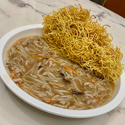 78. Crispy Chow Mein with Shredded Pork and Mushroom 香菇肉絲炒麵