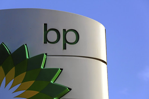 The BP logo is displayed at a London petrol station. Picture: REUTERS