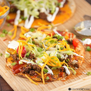 Taco Flatbread Pizza.
