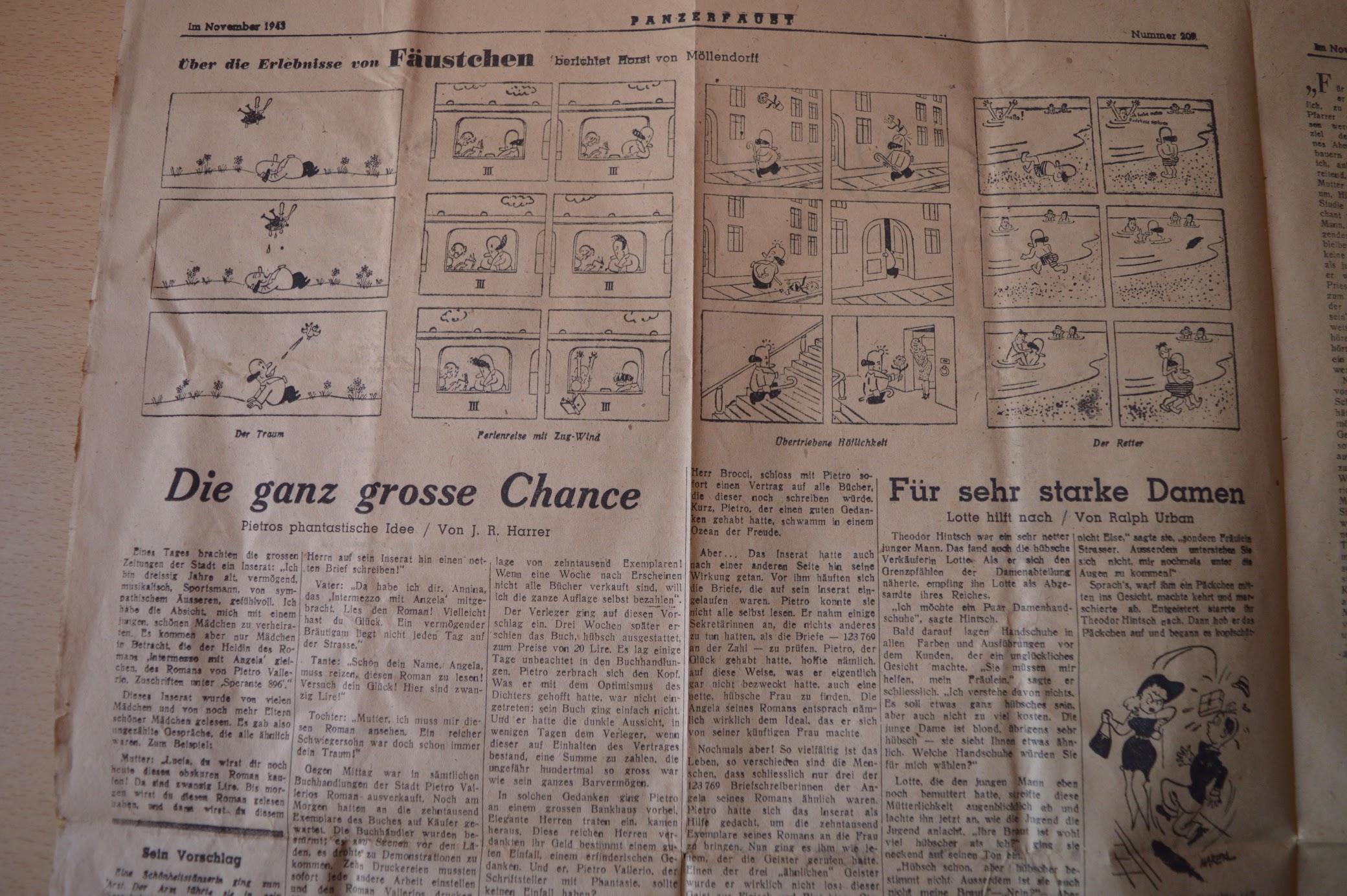 Soldatenzeitung an der Ostfront, Panzerfaust, November 1943