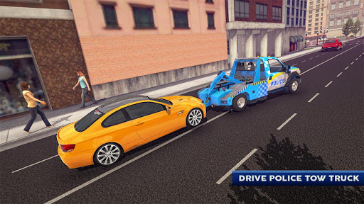 Police Tow Truck Driving Car Transporter Apk 1