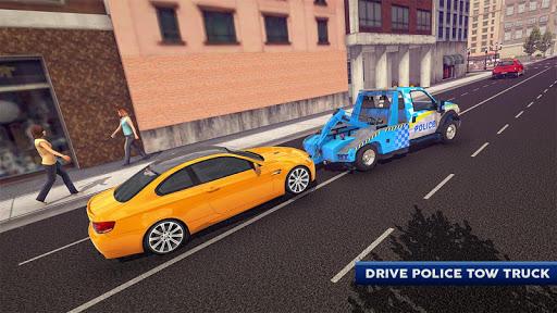 Police Tow Truck Driving Car Transporter 1.5 Screenshots 1