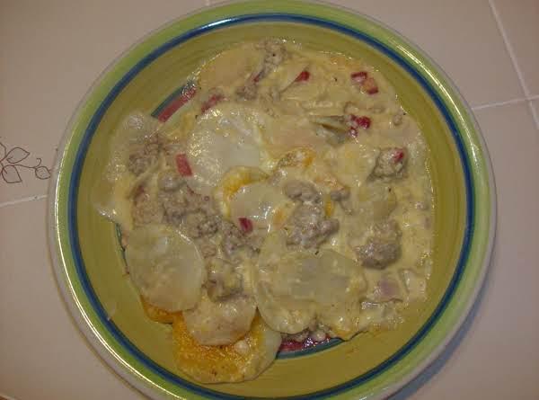 Ground Turkey And Scalloped Potato Casserole Recipe