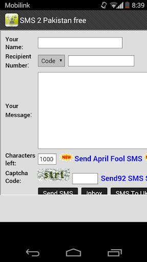 free SMS to Pakistan UK
