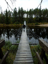 Photo: Swing bridge across the Oulanka River