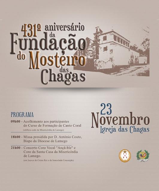 Programa cultural celebra fundação do Mosteiro das Chagas