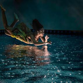 Raining Ariel by John Chu - People Fine Art