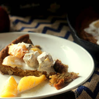 Peaches and Cream Cookie Pie.
