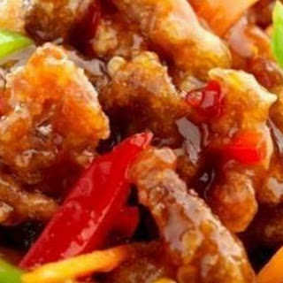 Crispy Shredded Chicken In Sweet Chilly Sauce.