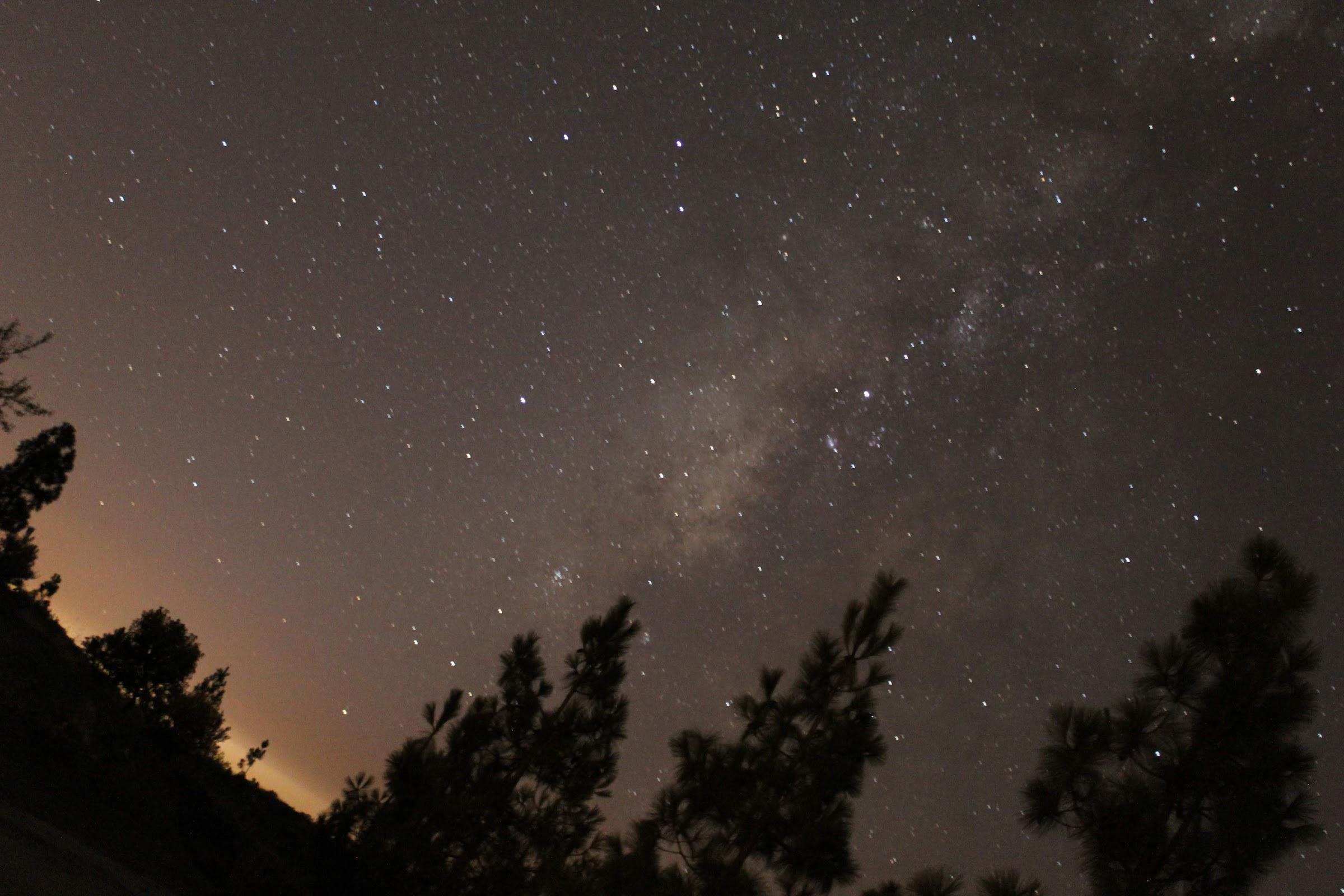 Foto de la Vía Láctea con la plancheta DIY