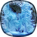 Frozen Waterfall HD Wallpaper icon