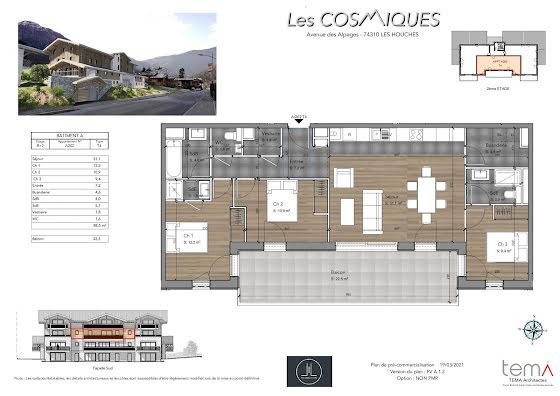 Vente appartement 4 pièces 88,5 m2
