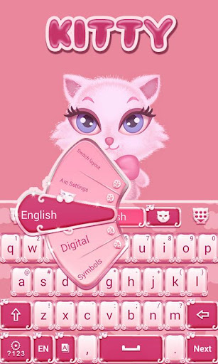 無料个人化AppのPink Kitty GO Keyboard Theme|記事Game